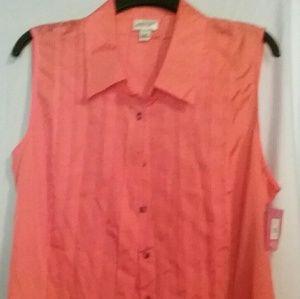 Isaac Mizrahi sleeveless shirt